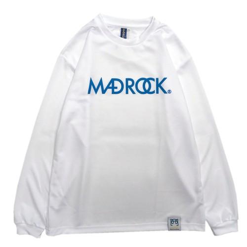 マッドロック / ロゴ ロンT / ドライタイプ / ホワイト&ブルー