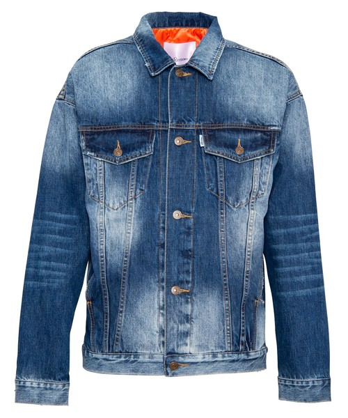 VINTAGE DENIM PADDING JACKET[REJ056]