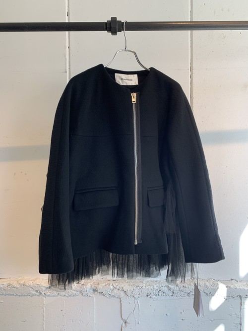 REKISAMI back gather tulle jacket