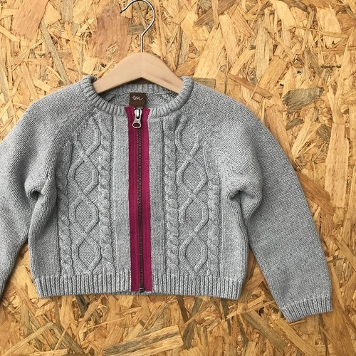 tea collection(ティーコレクション) / Donegal Cable Zip Cardigan カーディガン