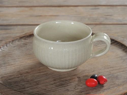 白橡釉 ティーカップ(鎬)