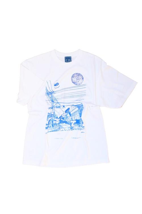 NO.570 玉川学園前駅前のTシャツ【東京】【XLサイズ】