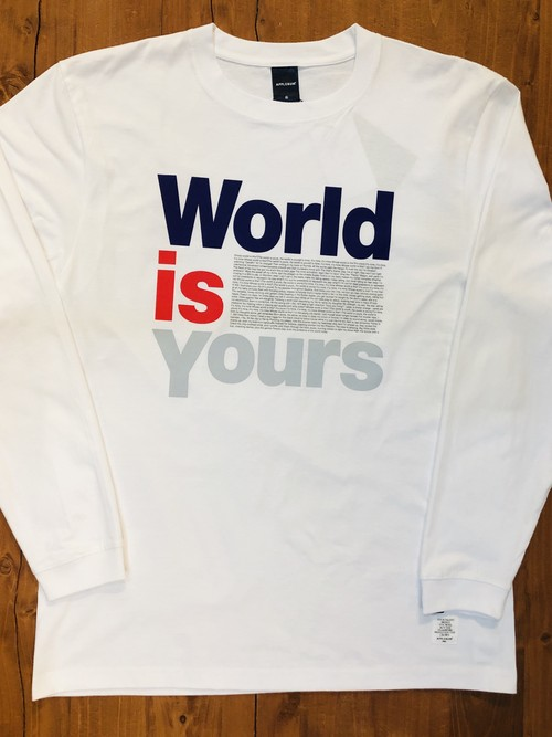 "【APPLEBUM 】""World is Yours"" L/S T-shirt"