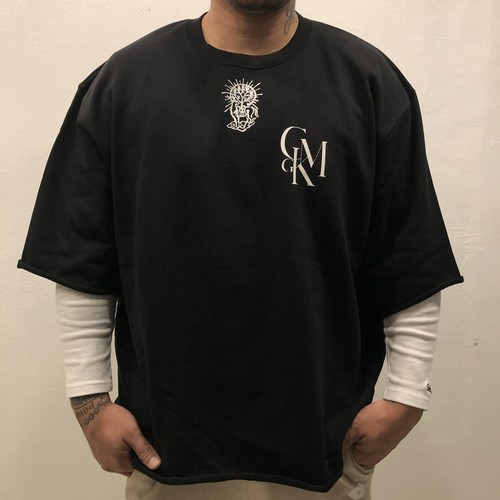 "JOE ""GOD"" Half sleeve SWEAT 【XL size / Black】"