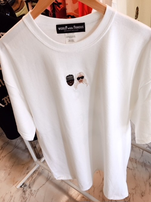 WORLDwideFAMOUSTシャツ★WHITE