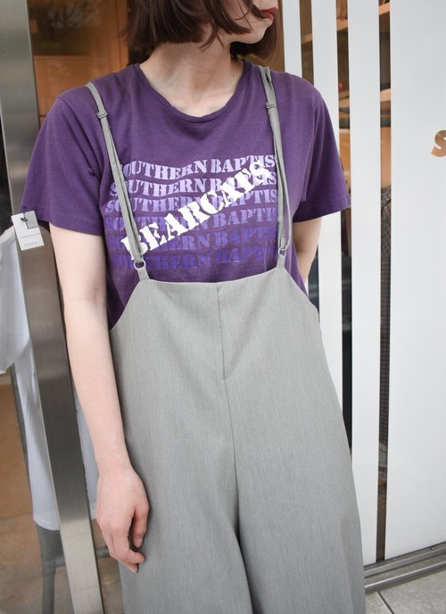 vintage cotton-poly プリントTシャツ