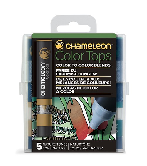 Chameleon Pen 5 Color Tops Nature Set (カメレオンペン 5本入りカラートップ ネイチャーセット)