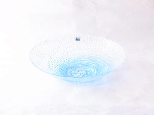 津軽びいどろ 水盤(花器) スカイブルー