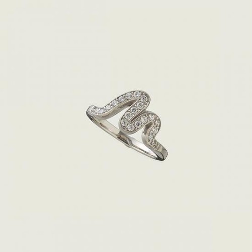 M Ring Silver