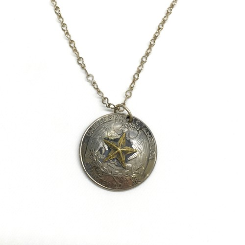 amp japan/Star Quarter Concho Necklace