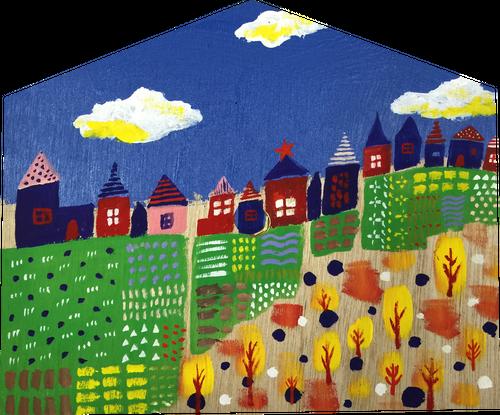 壁掛け時計「農夫の家」