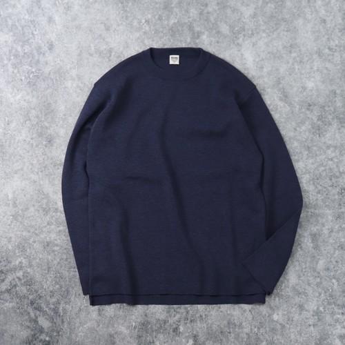【BARNS OUTFITTERS】MILANO RIB SWEATER  (NAVY) ニット セーター バーンズアウトフィッターズ 日本製 MADE IN JAPAN
