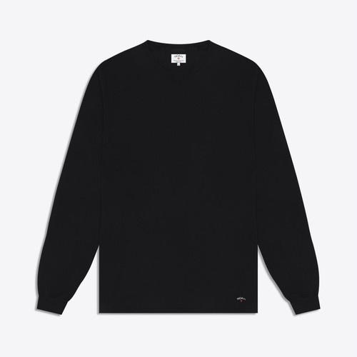 Recycled Cotton Long Sleeve Tee(Black)