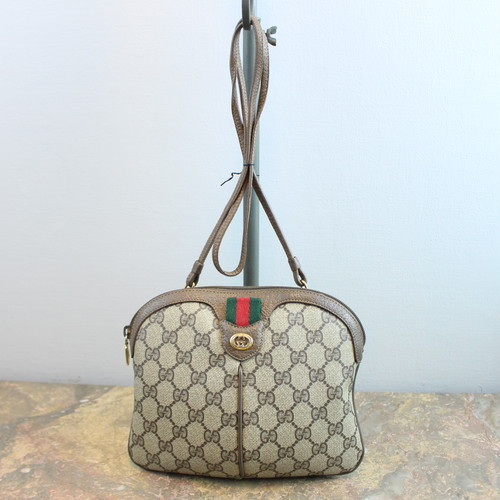 .OLD GUCCI GG PATTERNED SHERRY LINE SHOULDER BAG MADE IN ITALY/オールドグッチGG柄シェリーラインショルダーバッグ 2000000033907