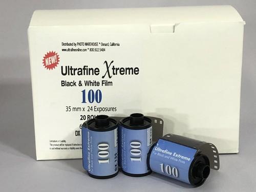 ウルトラファインEX 白黒フィルム ISO100 35mm x 24 20個入ボックス