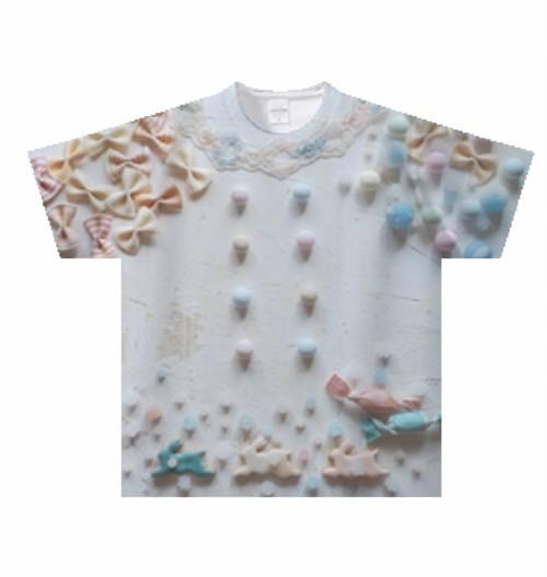 お菓子の国パステルTシャツ Kids
