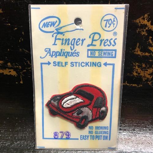 70's Volkswagen BEETLE Vintage Patch フォルクスワーゲン ビートル ワッペン ビンテージ バグ RED