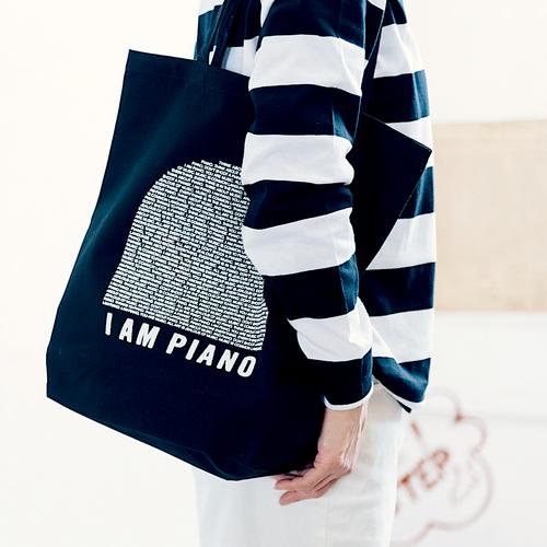 2色展開【トートバッグ】 オリジナルトートバッグ「I AM PIANO」