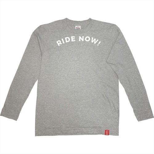 RIDE NOW!杢グレー (長袖)