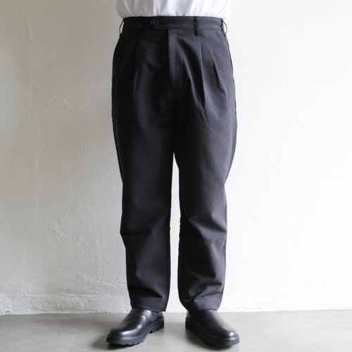 LAMOND  【 mens 】double weave wide tapered trousers
