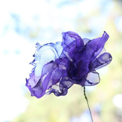 【再販】バイオレット|カラフルオーガンジーのアートフラワー【造花】