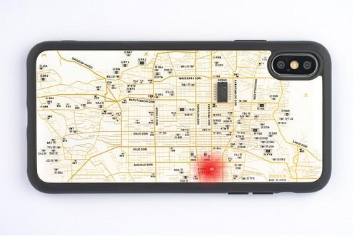 FLASH 京都回路地図 iPhone XS Maxケース 白【東京回路線図A5クリアファイルをプレゼント】
