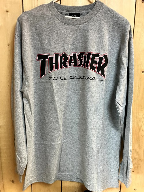 INDEPENDENT x THRASHER TTG L/S Tee GRAY