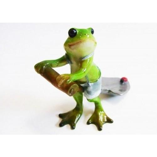カエルオブジェ ポタジェの蛙 スコップ持ちwithてんとう虫