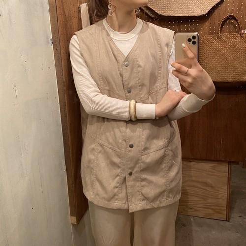 fake leather beige vest
