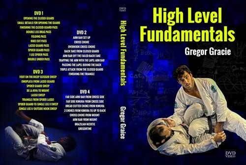 【現在お取り寄せ中です】ハイレベル ファンダメンタルズ グレゴー・グレイシー DVD4枚セット|ブラジリアン柔術教則DVD