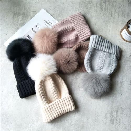 暖かい ウール帽子 ウールニット ボールキャップ