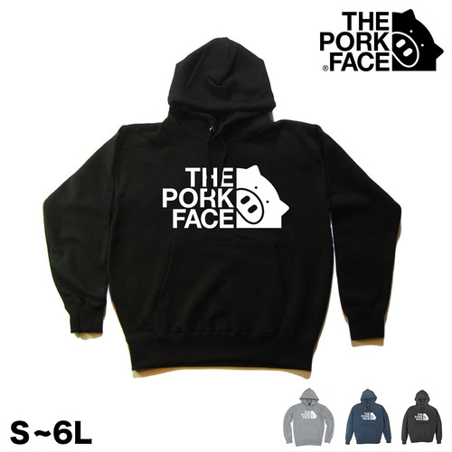 THE PORK FACE ロゴ大 プルオーバー パーカー S〜6L