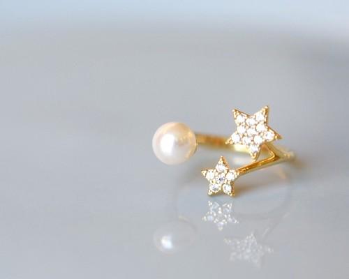Star pearl ring