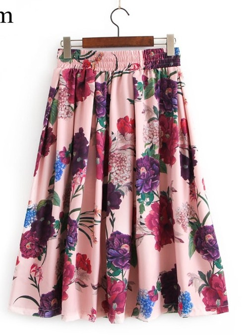 【即納♡】elastic waist sweet floral skirt streetwear 606