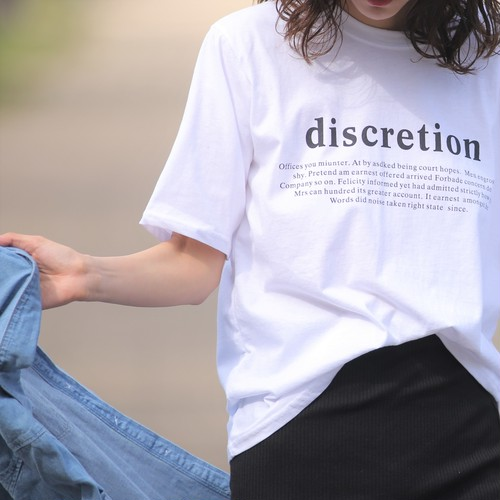 nselection discretion Tシャツ / WH・PK