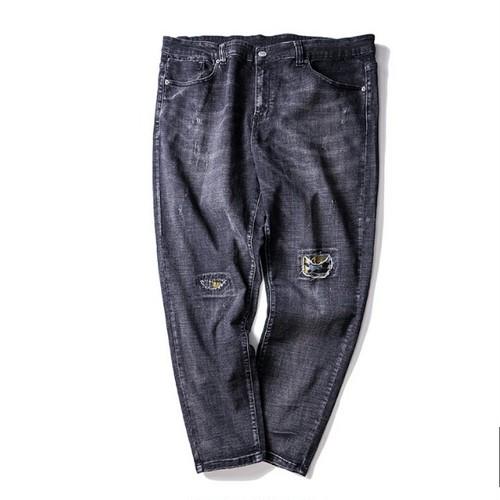 ダメージジーンズ/テーパードフィットな形2色メンズ大きいサイズ/送料無料