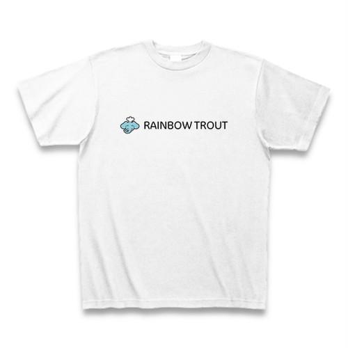 Aozora Pizza Tシャツ「RAINBOW TROUT 白」