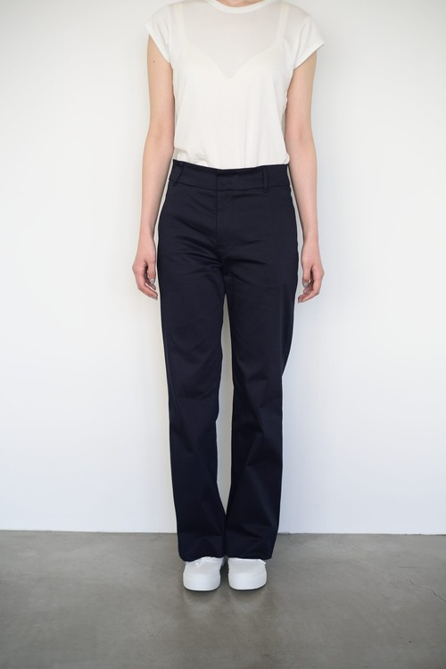 Cotton Wide Pants / Navy
