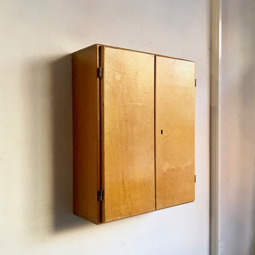 Vintage Wooden Wall Cabinet 60's オランダ
