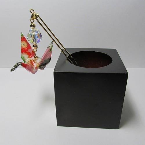 折鶴かんざし(桐箱付)【AA06-4】