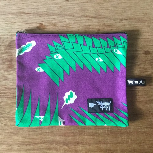 "ミニポーチ mini pouch ""sound wave""04"