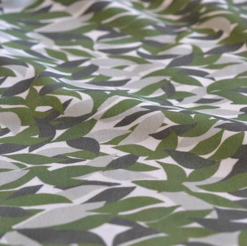 オーガニックコットンニット生地 <みかんの葉 > 48cm x 70cm