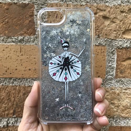 (iPhone)アレルキナーダ グリッターケース(スター)