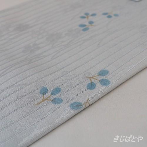 正絹絽 萩の柄の帯揚げ 月白