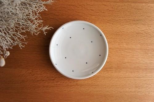 砥部焼/玉縁5寸皿/ドット