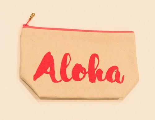Halehana Waikiki Alohaポーチ pink