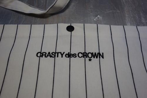 CRASTY des CROWN ピン ストライプ サコッシュ