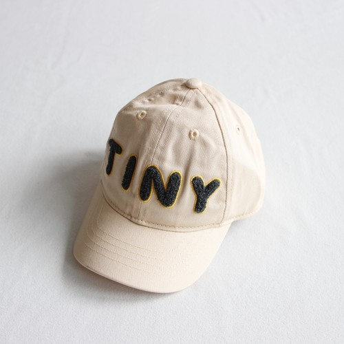 "《TINYCOTTONS 2020AW》""TINY"" SOLID CAP / cream"
