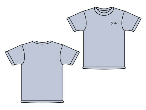 47idol 公式Tシャツ【シルバーグレー・ロゴ小】
