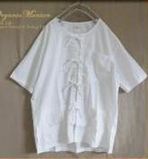 ポプリン半袖シャツ(前開きタイプ) フリーサイズ